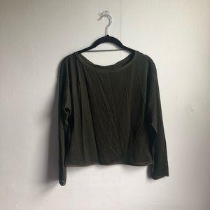 lululemon see thru long sleeve shirt size 2